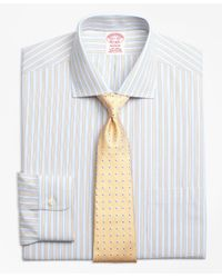 Brooks Brothers | Yellow Non-iron Madison Fit Framed Track Stripe Dress Shirts for Men | Lyst