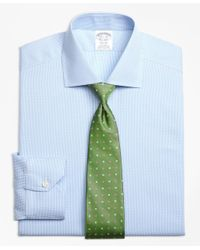 Brooks Brothers | Blue Non-iron Regent Fit Royal Oxford Houndstooth Dress Shirt for Men | Lyst