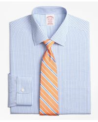 Brooks Brothers | Blue Non-iron Madison Fit Tonal Sidewheeler Check Dress Shirt for Men | Lyst