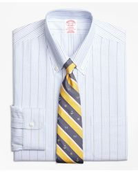 Brooks Brothers | Blue Non-iron Madison Fit Brookscool® Candy Stripe Dress Shirt for Men | Lyst