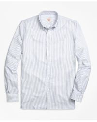Brooks Brothers | Blue Stripe Oxford Sport Shirt for Men | Lyst