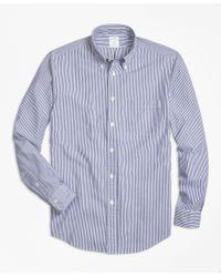 Brooks Brothers   Blue Regent Fit Stripe Seersucker Sport Shirt for Men   Lyst