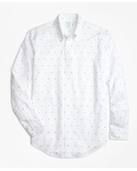 Brooks Brothers | White Milano Fit Palm Tree Print Sport Shirt for Men | Lyst
