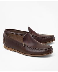 Brooks Brothers   Brown Rancourt & Co. Vintage Venetian Loafers for Men   Lyst