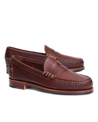 Brooks Brothers | Brown Football Leather Penny Loafers for Men | Lyst
