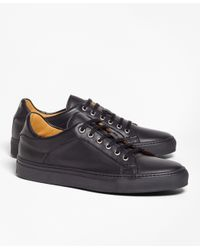 Brooks Brothers | Black Leather Sneakers for Men | Lyst