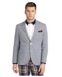 Brooks Brothers | Blue Milano Fit Mini Check Seersucker Sport Coat for Men | Lyst