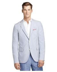 Brooks Brothers | Blue Seersucker Stripe Sport Coat for Men | Lyst
