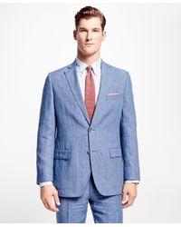 Brooks Brothers | Blue Fitzgerald Fit Linen Sport Coat for Men | Lyst