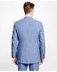 Brooks Brothers - Blue Fitzgerald Fit Linen Sport Coat for Men - Lyst