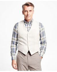 Brooks Brothers | White Irish Linen Vest for Men | Lyst
