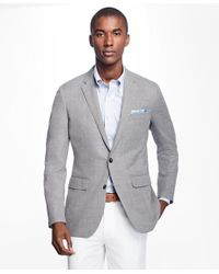 Brooks Brothers | Gray Milano Fit Two-button Hopsack Sport Coat for Men | Lyst