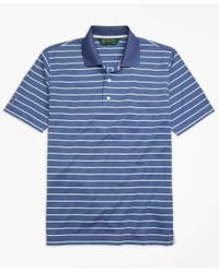 Brooks Brothers - Blue St. Andrews Links Stripe Golf Polo Shirt for Men - Lyst