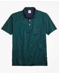 Brooks Brothers | Green Original Fit Even Stripe Performance Polo Shirt for Men | Lyst