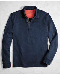 Brooks Brothers | Blue Golden Fleece® Brookstech Performance Interlock Long-sleeve Polo Shirt for Men | Lyst