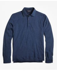 Brooks Brothers | Blue Long-sleeve Gentleman Polo Shirt for Men | Lyst