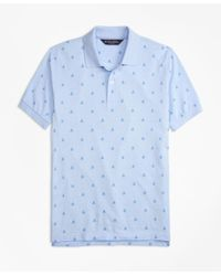 Brooks Brothers | Blue Original Fit Oxford Sailboat Print Polo Shirt for Men | Lyst