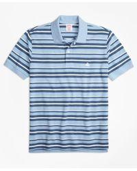 Brooks Brothers | Blue Original Fit Supima® Cotton Pique Varied Stripe Polo Shirt for Men | Lyst