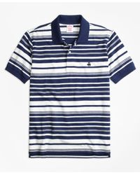 Brooks Brothers | Blue Original Fit Variegated Stripe Polo Shirt for Men | Lyst