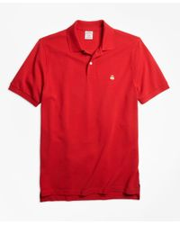 Brooks Brothers | Red Original Fit Supima® Cotton Performance Polo Shirt-basic Colors for Men | Lyst