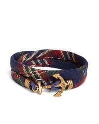 Brooks Brothers - Blue Kiel James Patrick Signature Tartan Wrap Bracelet for Men - Lyst