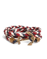 Brooks Brothers - Kiel James Patrick Red Leather Wrap Bracelet for Men - Lyst