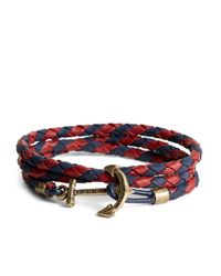 Brooks Brothers | Multicolor Kiel James Patrick Leather Wrap Bracelet for Men | Lyst
