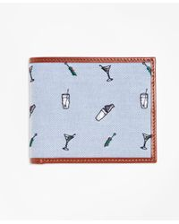 Brooks Brothers - Blue Martini Embroidered Wallet - Lyst