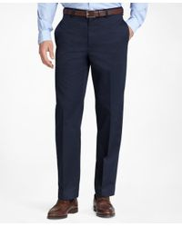 Brooks Brothers | Blue Milano Fit Plain-front Lightweight Advantage Chinos® for Men | Lyst