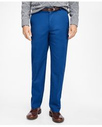 Brooks Brothers | Blue Clark Fit Supima® Cotton Stretch Chinos for Men | Lyst