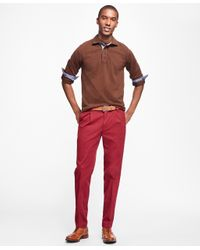 Brooks Brothers | Black Milano Fit Supima® Cotton Stretch Pleat-front Chinos for Men | Lyst
