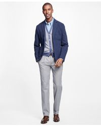 Brooks Brothers - Gray Milano Fit Supima® Cotton Stretch Pleat-front Chinos for Men - Lyst