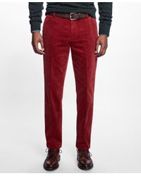 Brooks Brothers | Red Milano Fit Wide Wale Stretch Corduroys for Men | Lyst