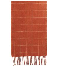 Brooks Brothers - Orange Multi Windowpane Scarf for Men - Lyst