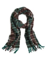 Brooks Brothers | Green Two-color Plaid Scarf for Men | Lyst