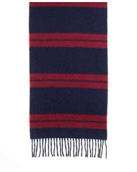 Brooks Brothers - Blue Blanket Stripe Scarf for Men - Lyst