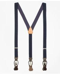 Brooks Brothers   Blue Polka Dot Suspenders for Men   Lyst