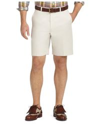 Brooks Brothers - White St Andrews Links Plain-front Shorts for Men - Lyst