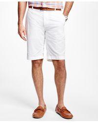 Brooks Brothers | White Seersucker Bermuda Shorts for Men | Lyst