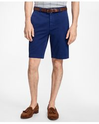 Brooks Brothers | Blue Garment-dyed Bermuda Shorts for Men | Lyst