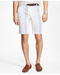 Brooks Brothers | White Multi-stripe Seersucker Bermuda Shorts for Men | Lyst