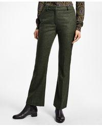 Brooks Brothers - Green Wool Twill Trousers - Lyst