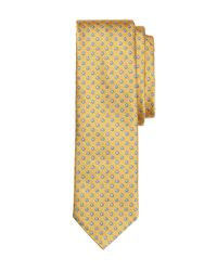 Brooks Brothers | Metallic Circle And Dot Slim Tie for Men | Lyst