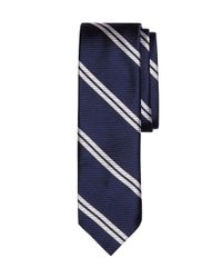 Brooks Brothers - Blue Twin Stripe Slim Tie for Men - Lyst