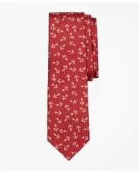 Brooks Brothers | Red Distressed Anchor Silk Tie for Men | Lyst