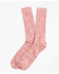 Brooks Brothers | Orange Bright Cotton Ragg Crew Socks | Lyst