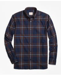 Brooks Brothers | Blue Plaid Flannel Sport Shirt for Men | Lyst
