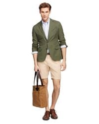 Brooks Brothers - Green Cotton Sport Coat - Lyst