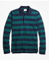 Brooks Brothers | Blue Long-sleeve Stripe Rugby Shirt for Men | Lyst
