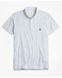 Brooks Brothers | Blue Feeder-stripe Jersey Polo Shirt for Men | Lyst